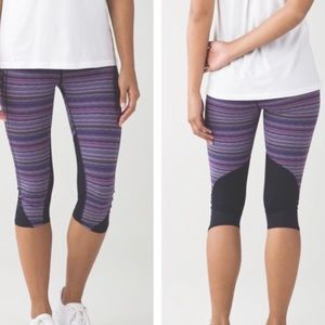 Lululemon Vent It Out Crop Space Dye PANTS 6